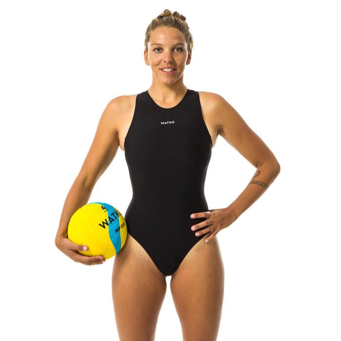 Badeanzug Wasserball Damen schwarz