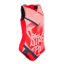 MAILLOT BAIN 1 PIÈCE WATER POLO FILLE STREET ROUGE