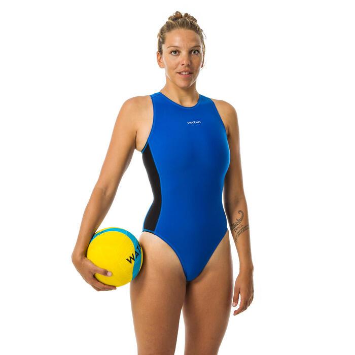Badeanzug Wasserball Damen blau