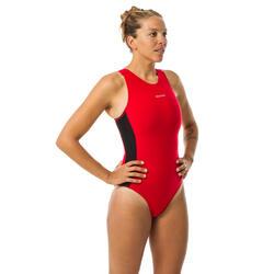 Badeanzug Wasserball Damen rot