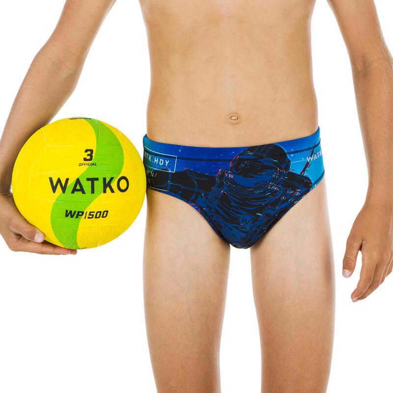 Bañador Slip Waterpolo Watko Space Niño Azul