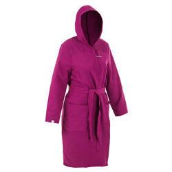 Compacte badjas voor dames microvezel paars