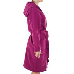 女款輕巧微纖維游泳浴袍-紫色