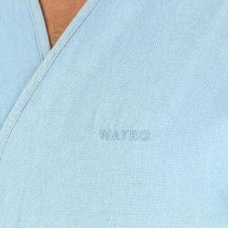 Bademantel Bio-Baumwolle leicht unisex grau