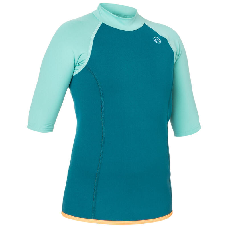 Kids' Short-Sleeve Neoprene Top 100 - Turquoise