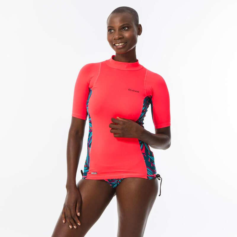 Női UV szűrős ruházat Strand, szörf, sárkány - Női UV-szűrő felső 500-as  OLAIAN - Bikini, boardshort, papucs