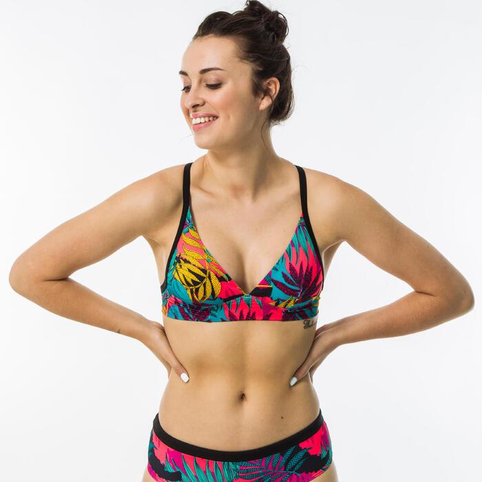 Top de Bikini de Surf BEA LOVINA Mulher ajustável costas Rosa