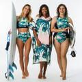 RUČNÍKY A PONČA Surfing a bodyboard - PONČO 500 PRINT PRESANA OLAIAN - Obuv, osušky a doplňky k vodě