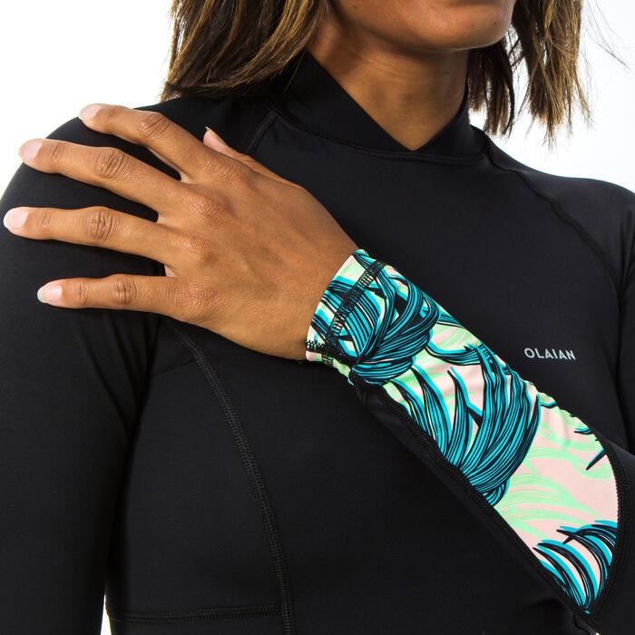 Teeshirt anti UV femme expert LOU manches longues avec dos et manchons imprimés