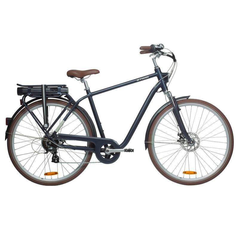 MĚSTSKÁ ELEKTROKOLA Cyklistika - MĚSTSKÉ ELEKTROKOLO 900 MODRÉ ELOPS - Jízdní kola
