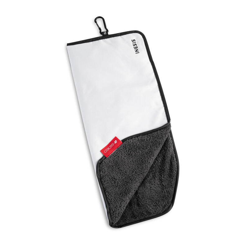 TWO-SIDED GOLF TOWEL - WHITE/BLACK