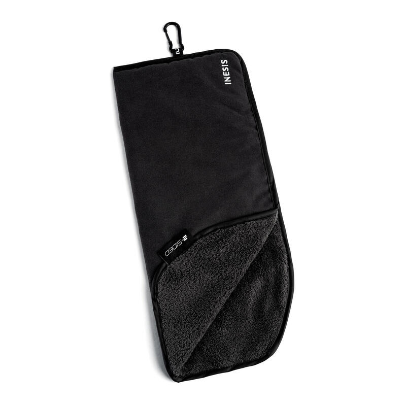 TWO-SIDED GOLF TOWEL - BLACK/BLACK