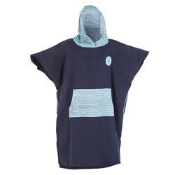 成人款衝浪印花斗篷毛巾衣500 – 游魚款