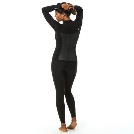 NEOPRENE JACKET 2MM ADVANCED WOMEN FRONT ZIP BLACK