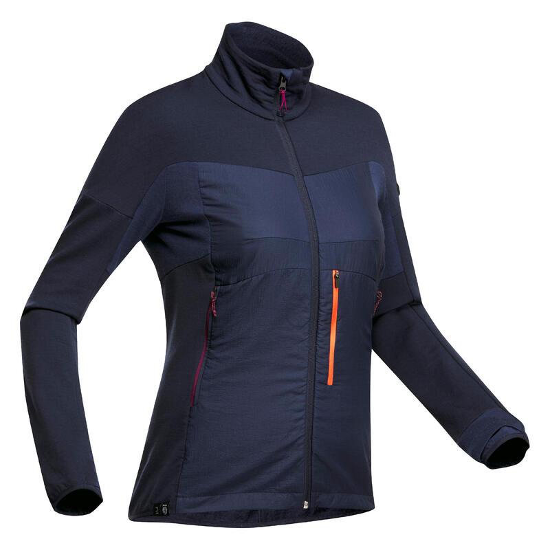 Sous-veste mérinos de trek montagne - MT 900 noir - Femme