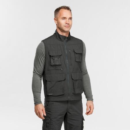 "Vyriška žygių liemenė su kišenėmis ""Travel 100"", pilka"