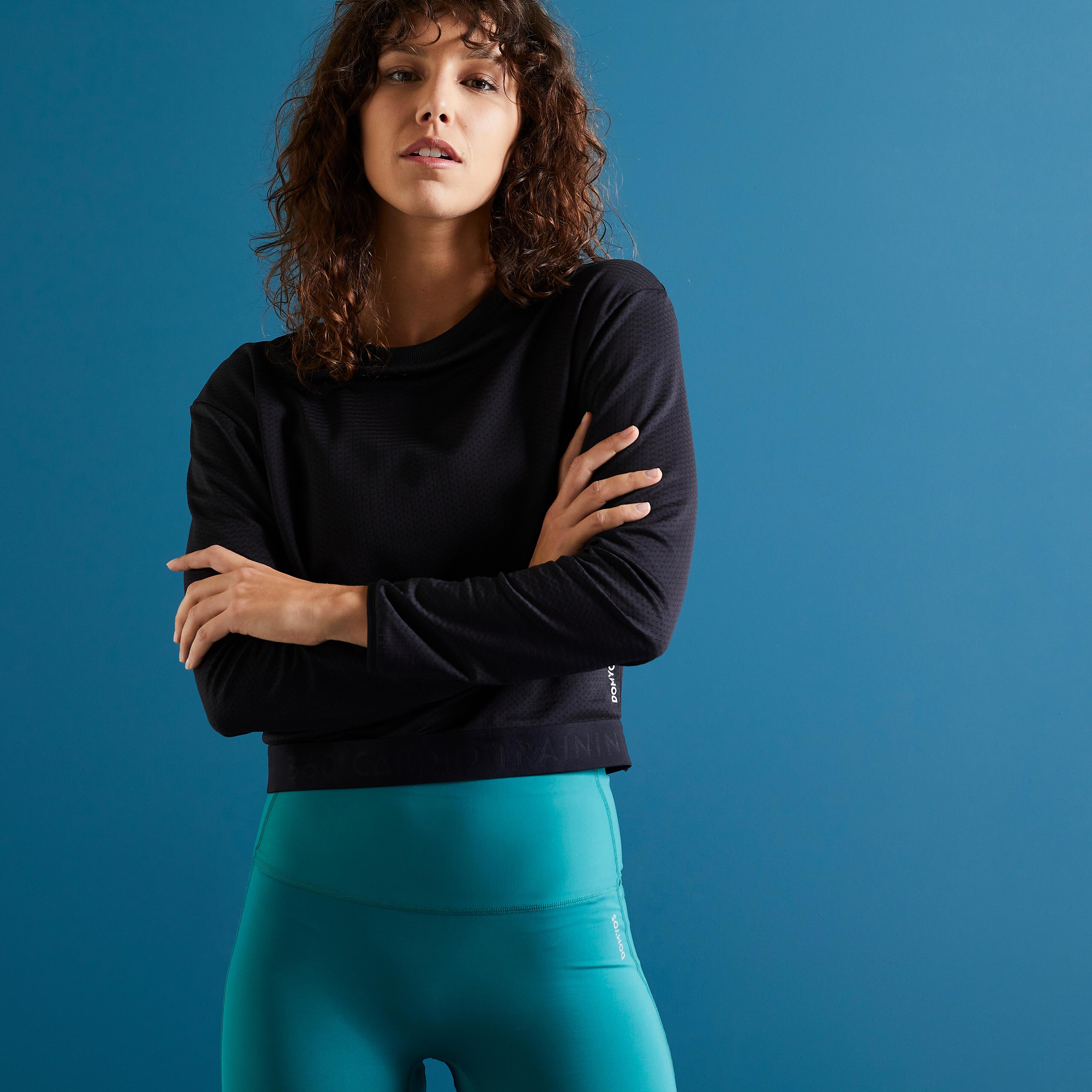 Bluză Fitness 500 Damă imagine