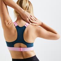 """Sieviešu fitnesa kardio treniņu sporta krūšturis """"900"""", rozā, ar apdruku"""