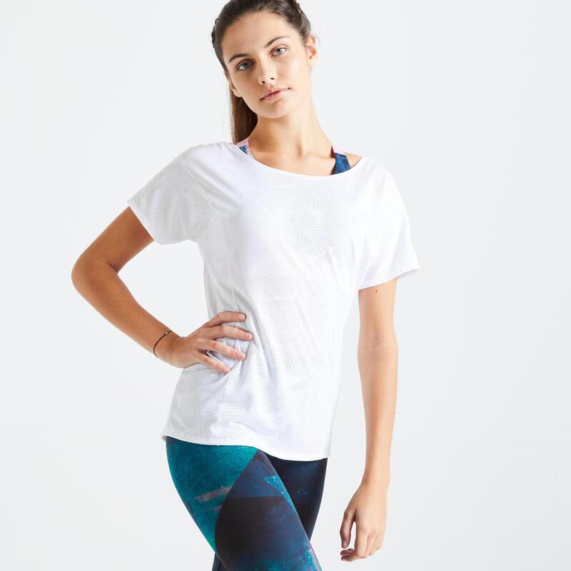 T-shirt ample Fitness blanc