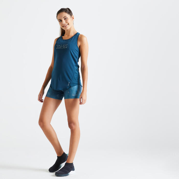 Short Fitness moulant imprimé