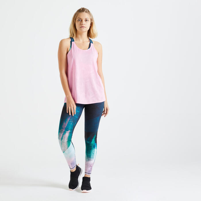 Legging taille haute Fitness imprimé