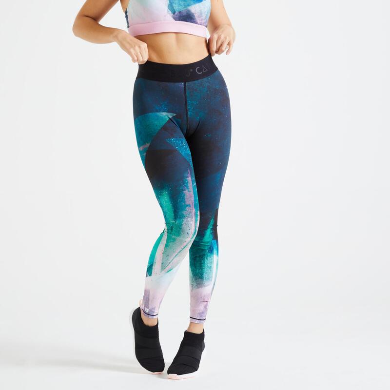 Legging met hoge taille voor fitness print