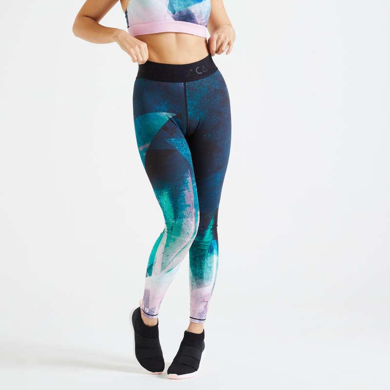 Fitnesz Cardio Női ruházat középhaladó Fitnesz - Női leggings FTI 500 DOMYOS - Fitnesz ruházat és cipő