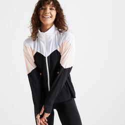 女款有氧健身訓練外套500 - 黑色/白色