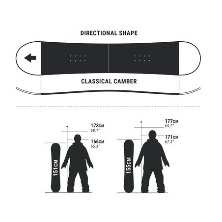 Bullwhip 300 On-piste and All Mountain Snowboard - Men