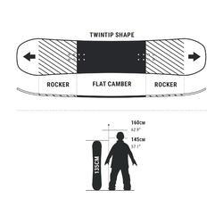 Prancha de snowboard All Mountain e Freestyle ENDZONE Criança 135 cm