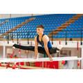 PÁNSKÉ VYBAVENÍ NA POSILOVÁNÍ Gymnastika - GYMNASTICKÉ LEGÍNY 500 ČERNÉ DOMYOS - Gymnastické oblečení