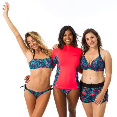 Women's boardshorts with elastic waistband and drawstring TINI WAKU