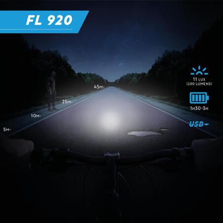 FL 920 Front/Rear LED USB Bike Light