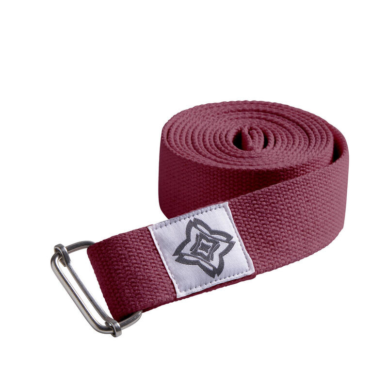 Organic Cotton Yoga Strap - Burgundy