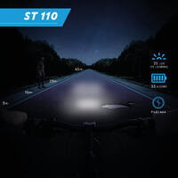 """Priekinio / galinio baterijomis maitinamų LED dviračio žibintų rinkinys """"ST 110"""""""