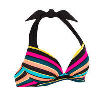 Women's push-up swimsuit top with fixed padded cups ELENA PARADISE