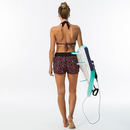 Boardshort surf femme TINI SAMA avec ceinture élastiquée et cordon de serrage