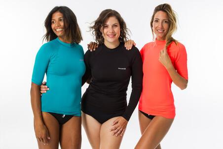 Women's Long-Sleeved UV-Resistant Surfing Shirt Black