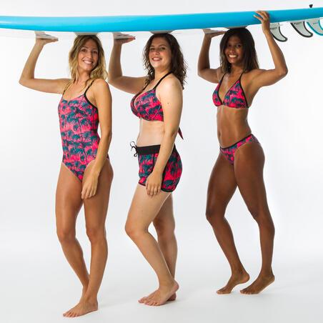 Boardshort surf femme TINI PRESANA avec ceinture élastiquée et cordon de serrage