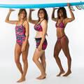 DÁMSKÉ SURFAŘSKÉ PLAVKY PRO ZAČÁTEČNICE Surfing a bodyboard - PLAVKY PUSH UP ELENA PRESANA OLAIAN - Plavky a trička s UV ochranou