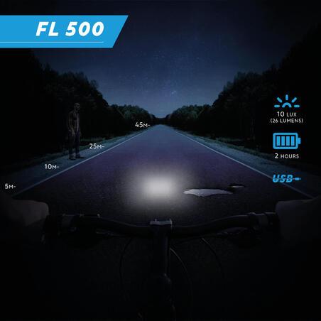 ភ្លើងបំភ្លឺកង់ខាងមុខ FL 500 USB