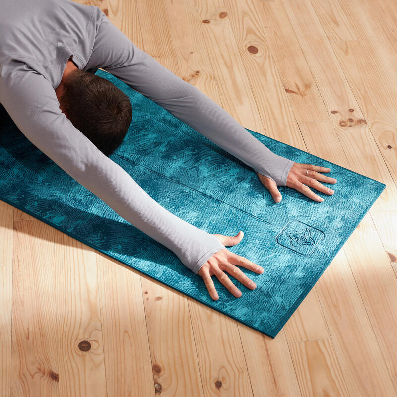 Gentle Yoga Mat 8 MM - Jungle Blue Print