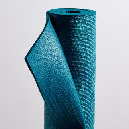 Comfort Gentle Yoga Mat 8 mm - Jungle Blue Print
