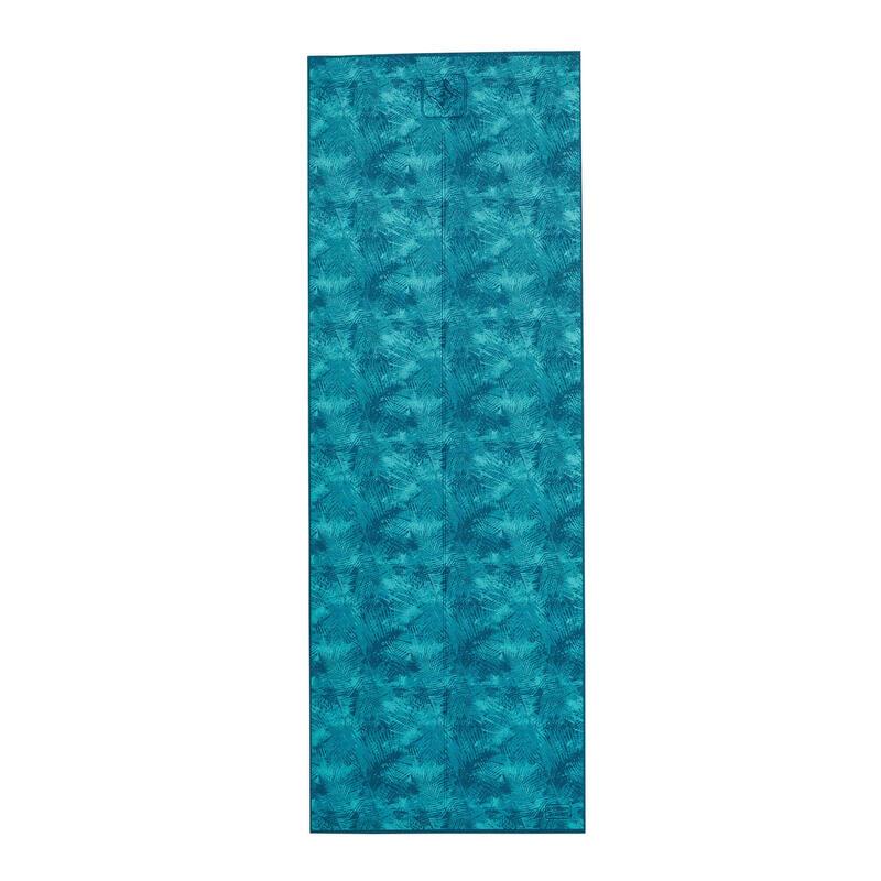 Tappetino yoga COMFORT azzurro con stampa 173x61x0,8CM