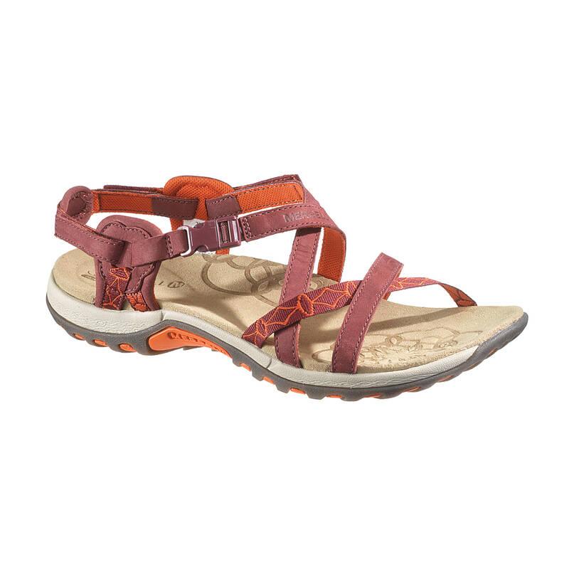 DÁMSKÉ SANDÁLY DO TEPLÉHO POČASÍ Turistika - Sandály Jacardia fialové MERRELL - Turistická obuv