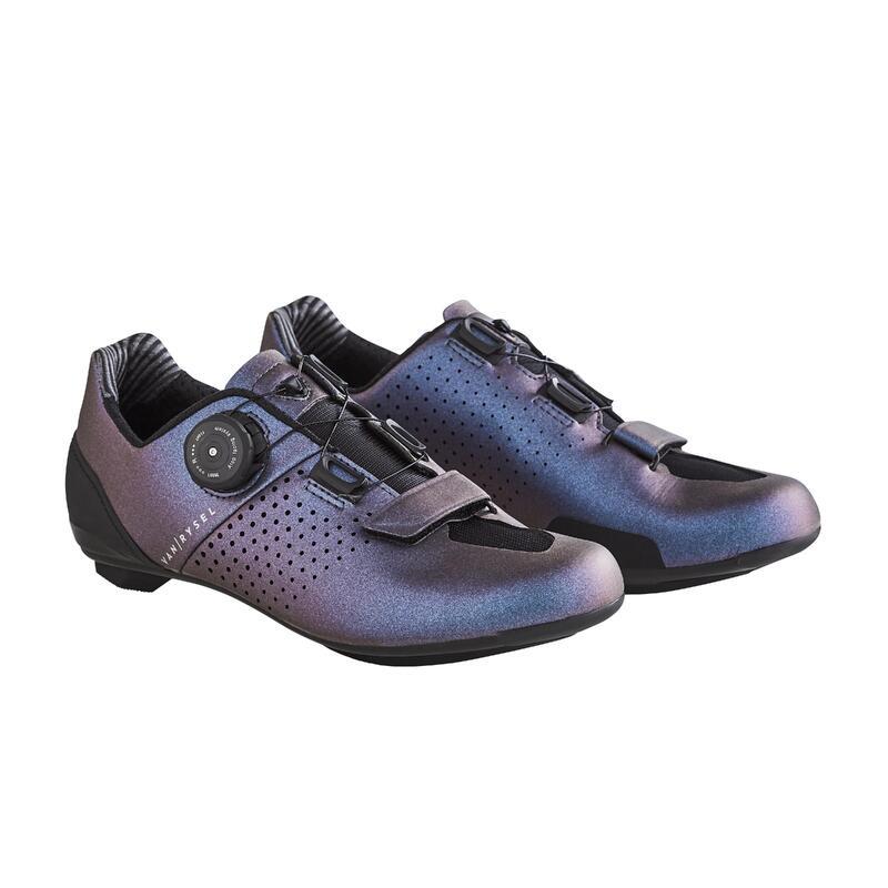Chaussures de vélo cyclo-sport VAN RYSEL ROADR 520 VIOLET IRIDESCENT