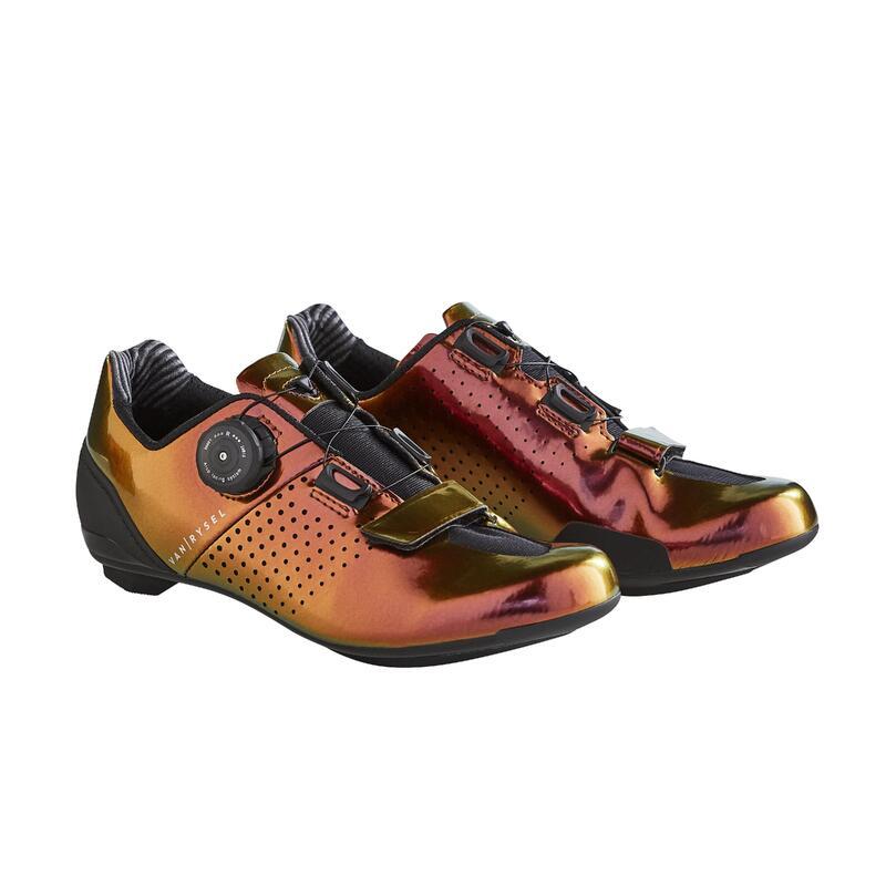 Chaussures de vélo cyclo-sport VAN RYSEL ROADR 520 BORDEAUX IRIDESCENT