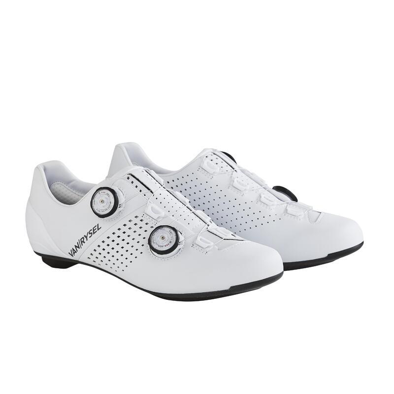 Chaussures de vélo cyclo-sport VAN RYSEL blanches