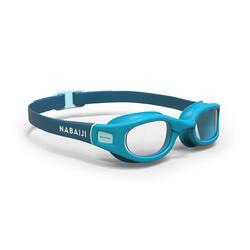 透明鏡片軟泳鏡S號 - 藍色