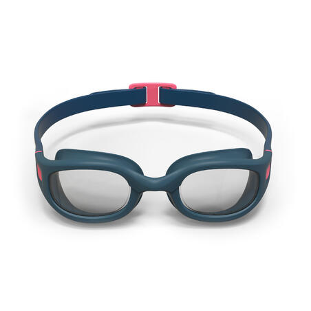 SWIMMING GOGGLES SOFT - SIZE L - CLEAR LENSES - BLUE PINK